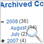 Archived content :: Display a list of content that has been archived, organized by month and year.