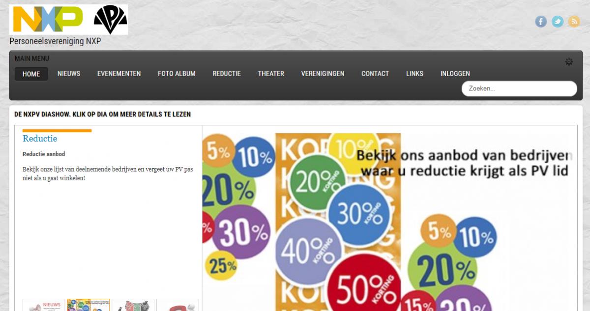 NXPV homepage